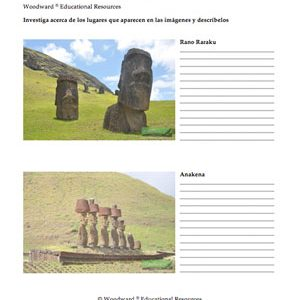 Spanish Worksheet Sample about Easter Island - Isla de Pascua