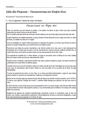 Learn spanish free worksheets