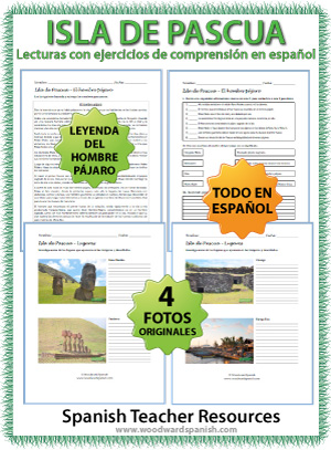 Easter Island Reading Activities in Spanish
