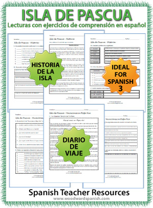 Easter Island Reading Worksheets in Spanish