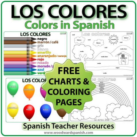 Los colores colorear woodward spanish for Colors in spanish