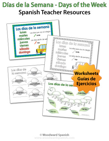 Days of the Week in Spanish Handouts