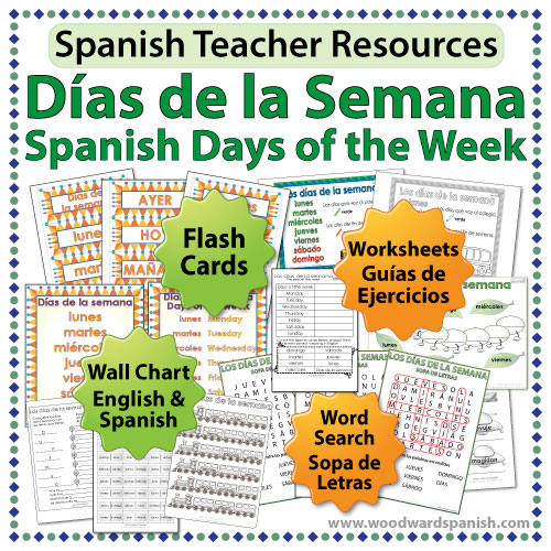Spanish Teacher Resources - Days of the Week in Spanish
