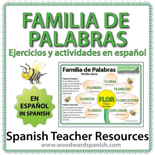 Familia de Palabras - Ejercicios y actividades en español - Worksheets in Spanish about Word Families