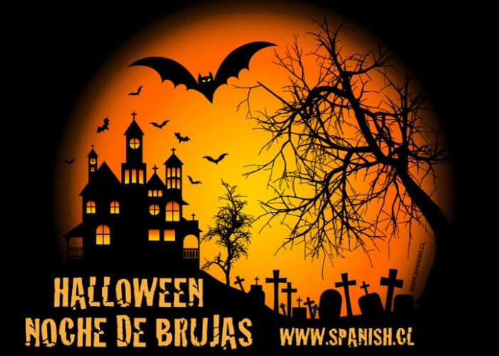 Halloween Vocabulary in Spanish with Teacher Resources