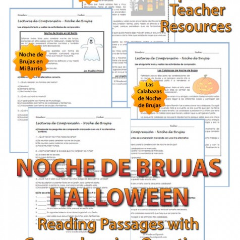 Spanish Reading Passages about Halloween - 3 Original Stories in Spanish