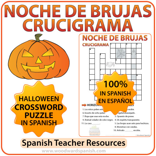 Halloween Crossword In Spanish