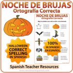 Spanish Halloween Vocabulary - Spelling Worksheet