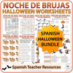 Worksheets and Activities about Halloween in SPANISH - Spanish Teacher Resources