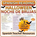 Spanish Halloween Reading Worksheets - Lecturas de comprensión en español de la Noche de Brujas