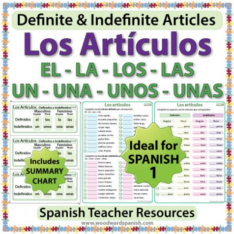 Spanish Articles Worksheets – Definite and Indefinite Articles