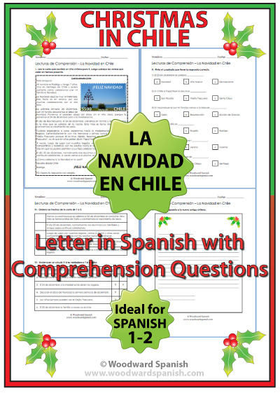 Christmas in Chile  Letter in Spanish  Woodward Spanish