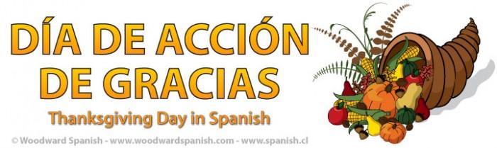 Thanksgiving Day in Spanish - Día de Acción de Gracias