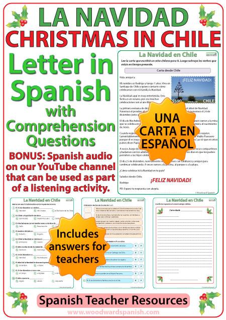 La Navidad en Chile - Una Carta - Christmas in Chile - Letter in Spanish
