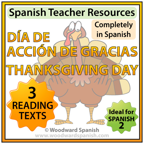 Spanish Thanksgiving Reading Passages with Comprehension Questions - Día de Acción de Gracias