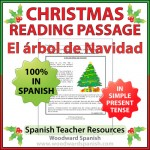 Christmas Reading Passage in Spanish about a Christmas Tree - El árbol de Navidad