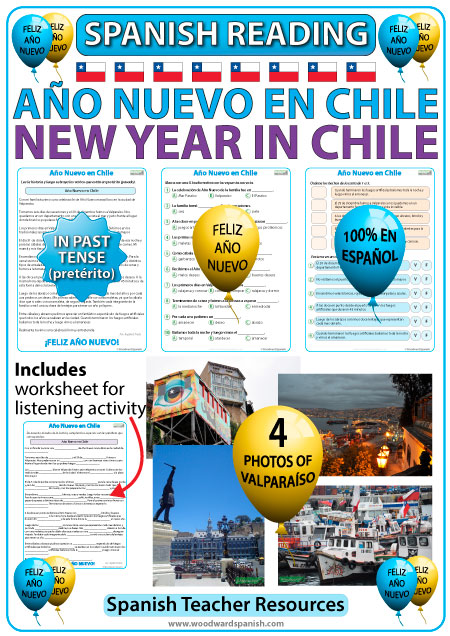 New Year in Chile - Spanish Reading Resource with photos - Año Nuevo en Chile