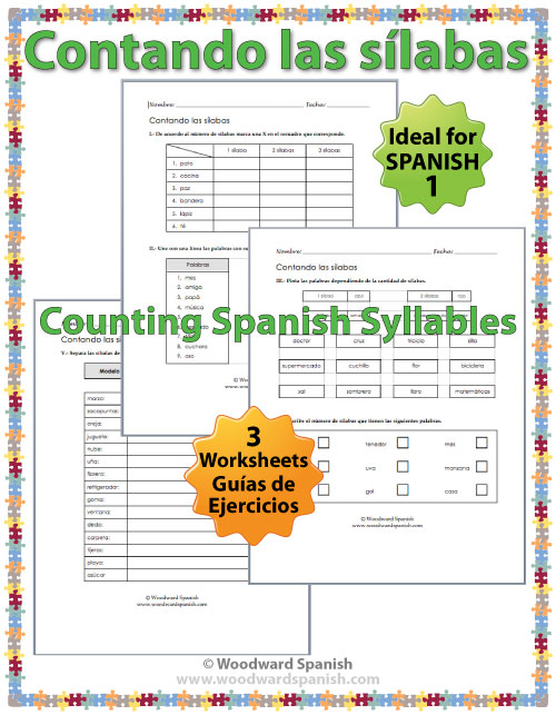 counting spanish syllables worksheets contando las s labas woodward spanish. Black Bedroom Furniture Sets. Home Design Ideas