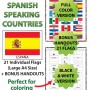 Flags of Spanish-speaking countries - Classroom Decoration Posters and Handouts
