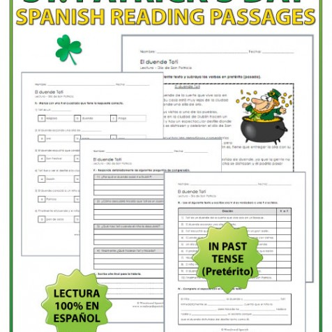 Lectura del Día de San Patricio - Reading about Saint Patrick's Day in Spanish