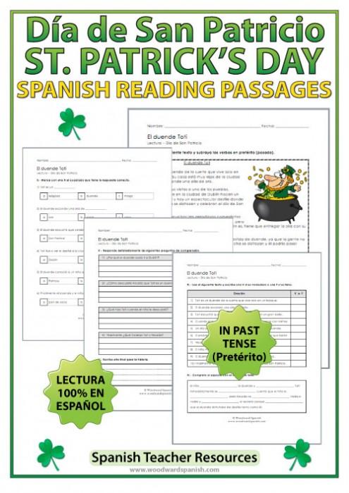 Lectura del Día de San Patricio - Reading about Saint Patrick's Day in Spanish