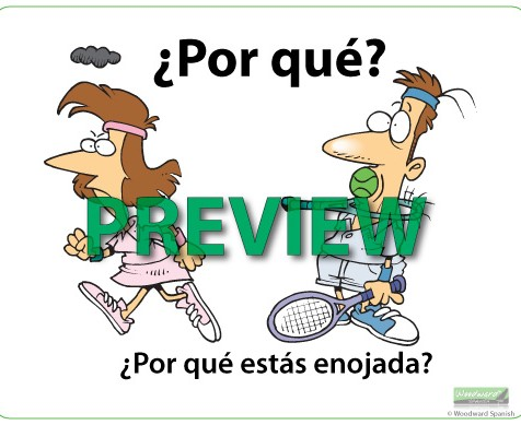 Question Words in Spanish Wall Chart - Por qué