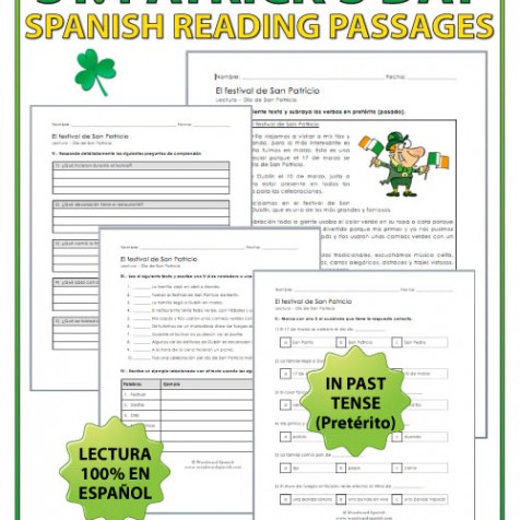 Spanish Reading Passage about the Saint Patrick's Day Festival - Lectura del Día de San Patricio