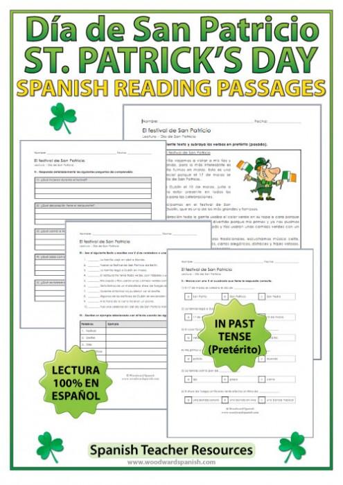 Spanish Reading Passage about the Saint Patrick's Day Festival - Lectura del Día de San Patricio