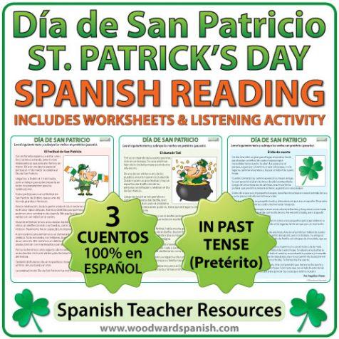 Spanish Reading - Saint Patrick's Day - Lecturas del Día de San Patricio