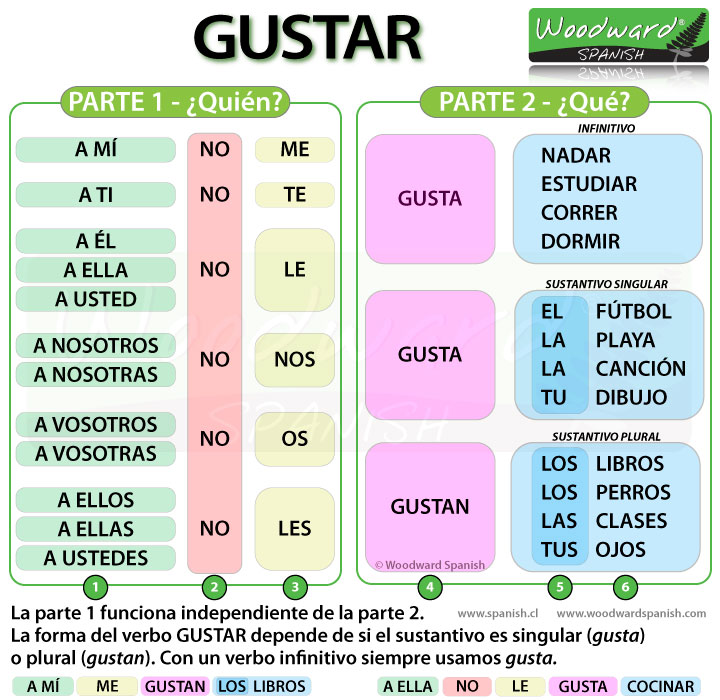 The Spanish Verb GUSTAR and how to say that you like something in Spanish