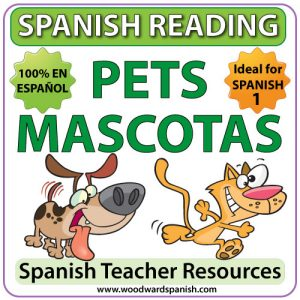 Spanish Reading Activities about Pets - Lecturas en español - Las Mascotas