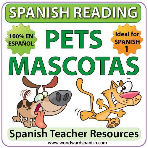 Spanish Reading Activities about Pets - Lecturas en español - Las Mascotas