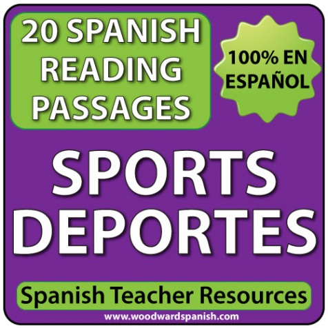 Spanish Reading Passage about Sports with Comprehension questions - Lectura de los deportes