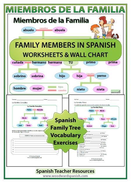 free worksheets spanish family worksheets free math worksheets for kidergarten and preschool. Black Bedroom Furniture Sets. Home Design Ideas