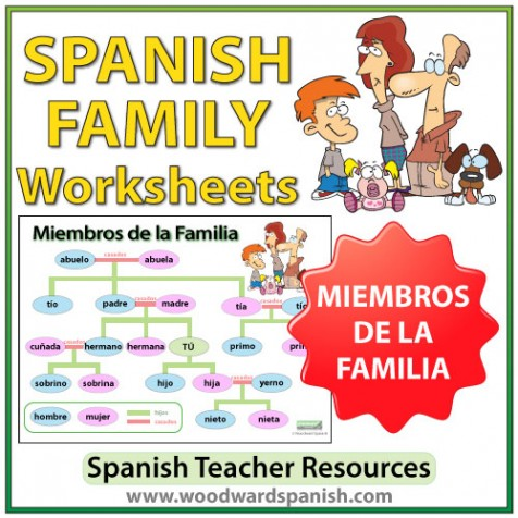 spanish family tree worksheets woodward spanish. Black Bedroom Furniture Sets. Home Design Ideas