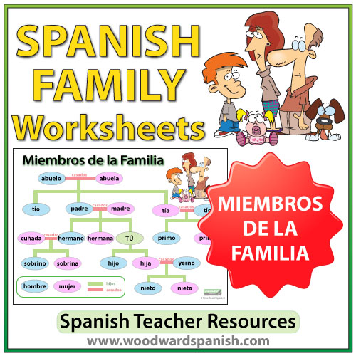 Spanish Family Tree Worksheets Woodward Spanish