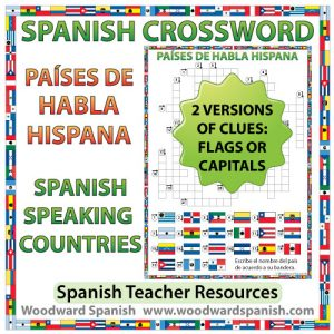 Spanish-speaking Countries Crossword – Crucigrama de los países de habla hispana
