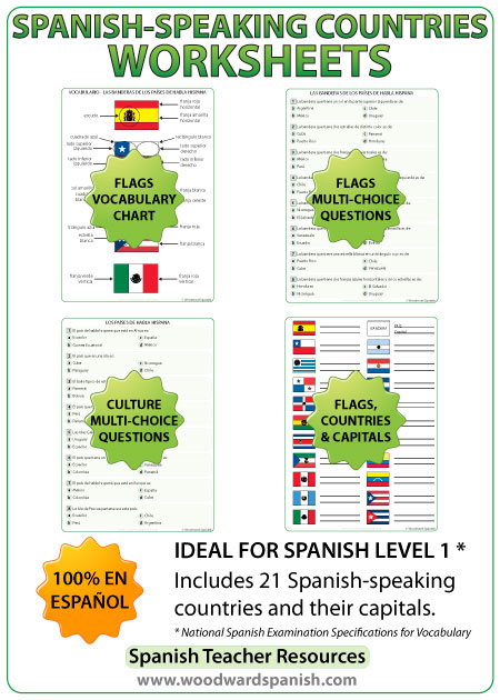 Spanish-speaking countries handouts and exercises