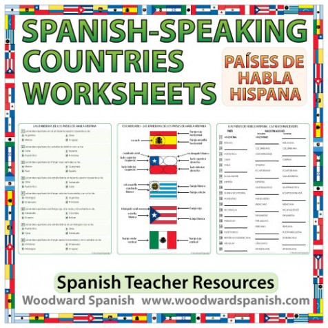 Spanish-speaking countries worksheets and activities