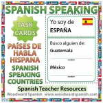 Spanish-speaking countries - Spanish Speaking Task Cards