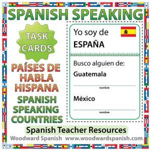 Spanish-speaking countries - Spanish Speaking Task Cards