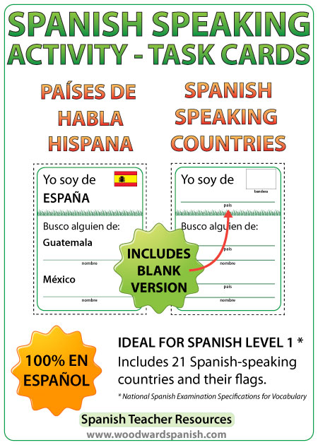 Spanish Speaking Task Cards - Spanish-speaking countries