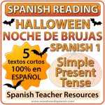 Spanish 1 Reading about Halloween - Noche de Brujas