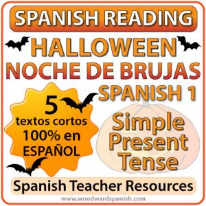 Spanish 1 Reading about Halloween - Noche de Brujas