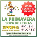 La primavera - Spring - Spanish Word Search - Sopa de Letras