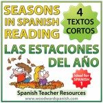 Seasons in Spanish reading comprehension and vocabulary - 4 textos cortas de las estaciones del año con actividades de comprensión de lectura