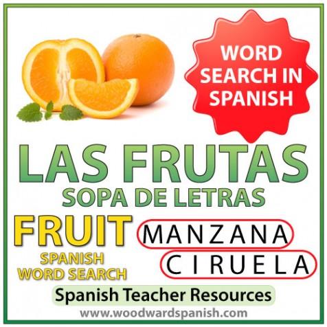 coloring pages las frutas spanish - photo#36