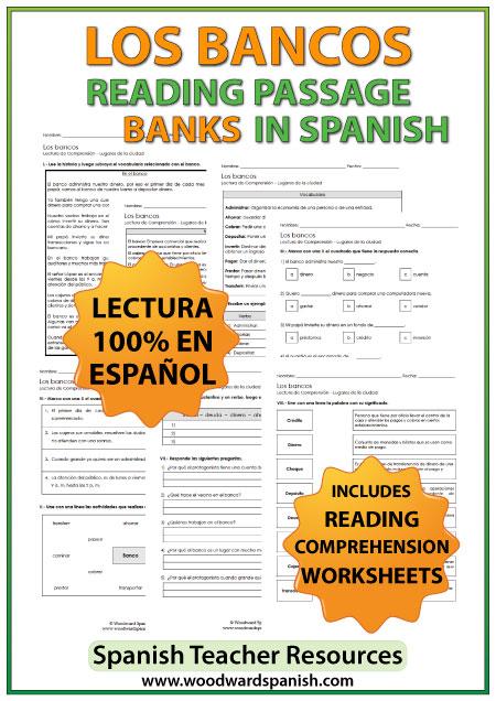 spanish reading banks los bancos woodward spanish. Black Bedroom Furniture Sets. Home Design Ideas