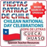 Sopa de letras con vocabulario de las Fiestas Patrias de Chile - Chilean National Day Celebrations Word Search