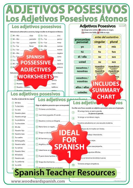 possessive adjectives spanish worksheet answers configuration possessive pronouns spanish. Black Bedroom Furniture Sets. Home Design Ideas